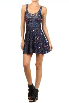 Pacman Skater Dress by Poprageous
