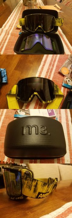 Goggles and Sunglasses 21230: 2017 Mens Anon M3 Snowboard Goggles $270 Grunge Dark Smoke Blue Lagoon -> BUY IT NOW ONLY: $85.99 on eBay!