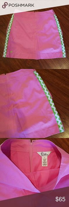 Lilly Pulitzer skirt with pockets & built in short Like bew condition Size 0 Lilly Pulitzer Skirts Midi