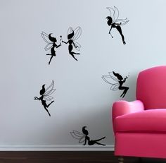 I want to do these on the walls of our *future* daughter's room... So cute!