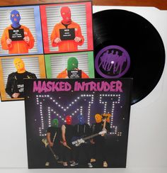 Masked Intruder M.I. s/t self-titled LP Record FAT punk VINYL with lyrics insert #PunkNewWave