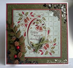 Christmas Card made using 'Ring out those Bells' Create a Card die Christmas Cards To Make, Xmas Cards, Greeting Cards, Crafters Companion Christmas Cards, O Holy Night, I Card, Projects To Try, Card Making, Paper Crafts