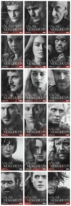 Game of Thrones Season 4 Character Posters all in one tidy little package.
