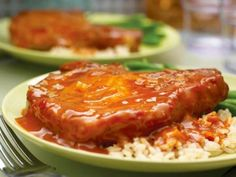 Orange Pork Chops Recipe- Dylan and I made this last night...AMAZING! Sooo easy! Then today we doubled it and put it in the crock pot with a pork roast...heaven! Ah