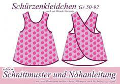 Nähanleitung / Schnittmuster Schürzenkleid Kleid