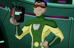 A few years ago, LEGION OF SUPER-HEROES finally got its own cartoon, and Matter-Eater Lad made the jump to the small screen.