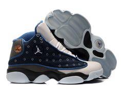 buy online 9b953 31516 Jordan 13 black blue white basketball shoes Nike Jordan 13, Air Jordan  Shoes, Cheap