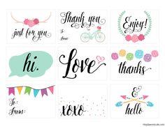 Printable Everyday Gift Tags | Dawn Nicole Designs