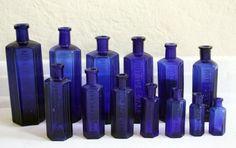I love cobalt blue glass... particularly the vintage bottles!!