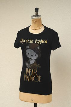 Hello Kitty Recycle Fashion WEAR VINTAGE T-Shirt Pop Surreal Baby Sanrio Doe S/P