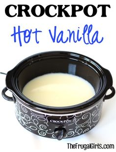 Crockpot Hot Vanilla Recipe! ~ from TheFrugalGirls.com ~ this delicious slow cooker drink will warm you to the toes ~ perfect for parties or a chilly day! #slowcooker #recipes #thefrugalgirls