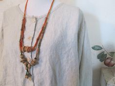 Vintage Boho Hippie Beads and Twine Necklaces by JustMakeLemonade