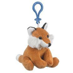 Fox Plush Red Fox Stuffed Animal Backpack Clip Toy Keycha...