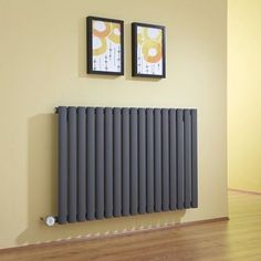 Milano Aruba Electric - Anthracite Horizontal Designer Radiator x Wall Radiators, Horizontal Designer Radiators, Chrome Towel Rail, Radiator Heater, Electric Radiators, Central Heating, Heating Element, Heating Systems, Home Appliances