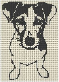 grilles jack russel et chats - xstitch - Filet Crochet Charts, Knitting Charts, Cross Stitch Charts, Cross Stitch Patterns, Cross Stitching, Cross Stitch Embroidery, Embroidery Patterns, Crochet Patterns, Dog Pattern