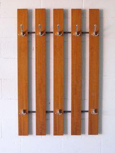 Modern Wall Coat Rack rosewood+wall+mount+coat+rack+ | danish treats | pinterest | wall