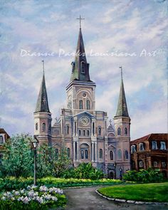 New Orleans Art St Louis Cathedral Jackson by DianneParksArt