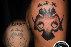 Football Tattoo Football Tattoo, Up Tattoos, Cover Tattoo, Tattoo Studio, Cover Up, Skull, Skulls, Sugar Skull