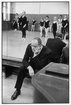 Henri Cartier-Bresson  USA. New York City. American School of Ballet. 1959. Lincoln KIRSTEIN, US critic and impresario.
