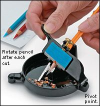 gift idea for the engineer.  manual pencil sharpener.  Neat desk-top gift.