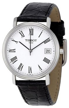 Tissot Men's T52142113 T-Classic Desire Leather Watch - http://watches.amazonchoices.com/watches/mens-watches/tissot-men39s-t52142113-tclassic-desire-leather-watch-com/