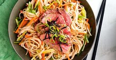 This low-fat beef and soba noodle salad is a delicious option for hot weeknight dinners. Sake nori wasabi