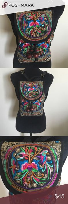 Back by popular demand Brand new completely embroidered backpack :)! No trades! No try ons! Posh only! Free People Bags Backpacks