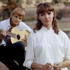 Jacques Perrin & Anna Karina in Le Soleil Dans L'Oeil, 1961. These two had an affair… scandalous!