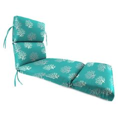 Jordan Manufacturing 74 in. French Edge Outdoor Chaise Lounge Cushion - Isadella Ocean - HN150PK1-3796D