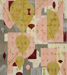 'Hip Hop Pink' (2012) by American artist Nicholas Wilton. Mixed media on panel, 60 x 54 in. via the artist's site http://decdesignecasa.blogspot.it