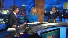 """It might be chilly in Minnesota but Fox 9 Minneapolis weatherman Steve Frazier knows how to warm up a crowd when he forgot a hanger in his suit. """"I thought it was just the tight button but nevermind,"""" Steve utters as he rips the hanger from his jacket. He had a perfectly logical explanation, though, """"I went to the gym today, and this suit was fitting tight and I couldn't figure out why. And I must have put it on a little too quick."""""""