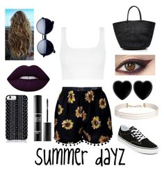 """""""summer dayz ☀️"""" by alexis-43 ❤ liked on Polyvore featuring Vans, Sensi Studio, Savannah Hayes, Dollydagger, Humble Chic, Lime Crime and MAKE UP FOR EVER"""