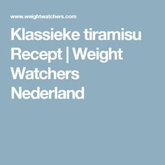 Klassieke tiramisu Recept | Weight Watchers Nederland