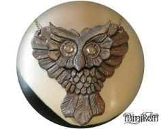 Leather Owl statement piece pendant made to order. by Minikem, $69.00 critters, accessories, feathers, wings