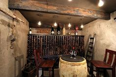 Wine cellar interior. I almost like this one more than the last because it is smaller and more do-able.
