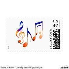 Sound of Music - Dancing Symbols Stamp