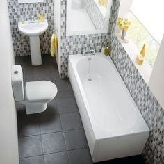Huge range of modern and traditional bathroom suites at BigBathroomShop to suit any home - interest free credit and free delivery available - shop now Yellow Bathrooms, Big Bathrooms, Family Bathroom, Bathroom Ideas, Traditional Bathroom Suites, Color Splash, Competition, Modern, Shopping