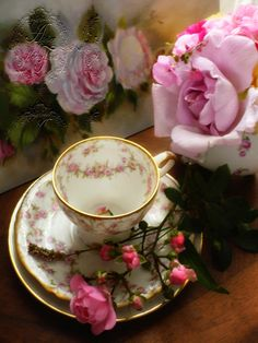 ! ✿ A rose affair ........© H.Flont