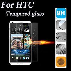2.5d 9 h protezione dello schermo in vetro temperato per htc desire 510 516 610 616 626 820 816 One M7 M8 M9 E9 Caso Della Copertura Protettiva pellicola