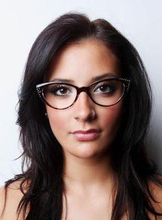 bc2f263796 Elegant cat eye glasses glasses with rhinestones women s vintage frames