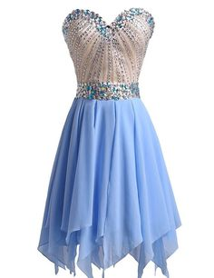 Graduation Dresses Sparkly Crystals Beaded Sweetheart Short Homecoming Dress for Teens from mfprom Dresses For Teens, Short Dresses, Dresses 2016, 8th Grade Graduation Dresses, Jeans For Short Women, Thing 1, Beaded Chiffon, Short Prom, Homecoming Dresses