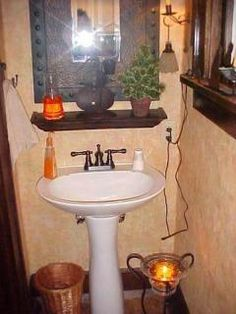 I think I'm going to try the shelf over my pedestal sink.