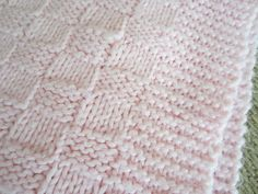 Easy Baby Blanket Knitting Pattern | Simple Homecraft: My First Knitting Project