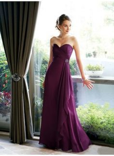 Not a big fan of long bridesmaid dresses, but this is beautiful!