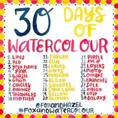 Fox + Hazel: Ta Da! The 30 Day Watercolour Challenge!