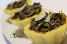Le leccornie di Danita: Cestini di polenta agli asparagi e carciofi....