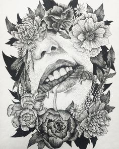 Fresh WTFDotworkTattoo Find Fresh from the Web  #blackink #blackwork #blacktattoo #blackworkers #blxckink #dotwork #dotworktattoo #stippling #bondage #shibari #kinbaku #bdsm #peony #peonytattoo #portrait honeytripper WTFDotWorkTattoo