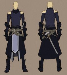 black swordnman - concept by *MizaelTengu on deviantART
