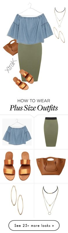 """""""Plus size casual summer chic"""" by xtrak on Polyvore featuring Street Level, WearAll, Madewell, Lydell NYC and plus size clothing"""