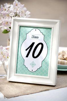 5 imprimibles para numerar las mesas de tu boda | Love Chocolate and Weddings